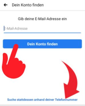Facebook Passwort vergessen 2