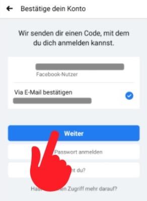 Facebook Passwort vergessen 3