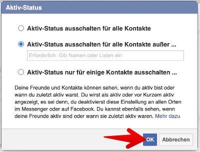 Facebook Webseite Aktiv-Status ausschalten 4