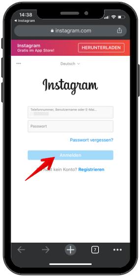 Instagram Daten herunterladen Bild 08