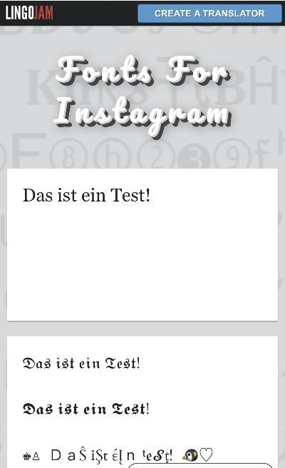 Instagram Schriftarten verwenden 1
