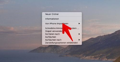 Mac Dokumente mit iPhone scannen 1