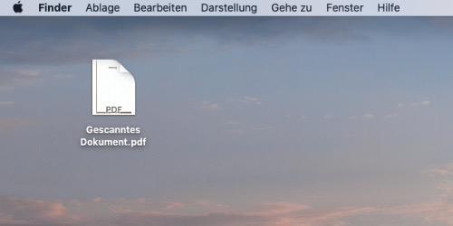 Mac Dokumente mit iPhone scannen 5