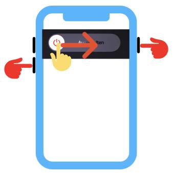 iPhone ausschalten iPhone X, 11, oder 12