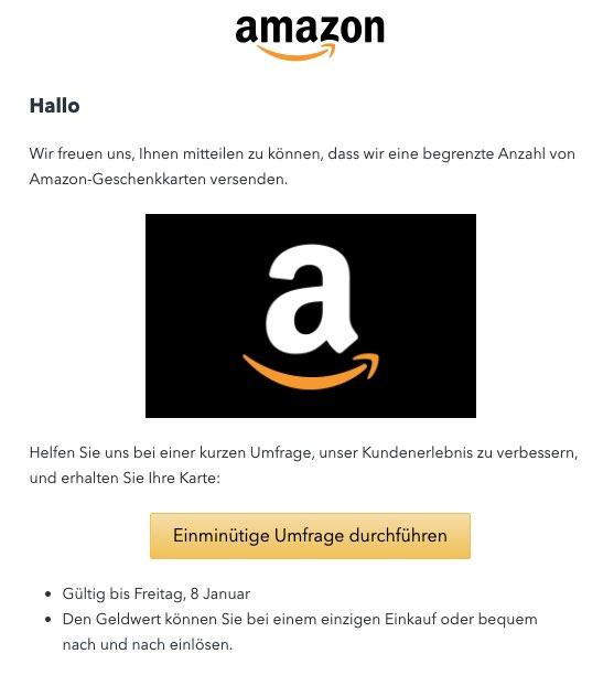 2021-01-08 Amazon Spam-Mail Fake Geschenkkarte