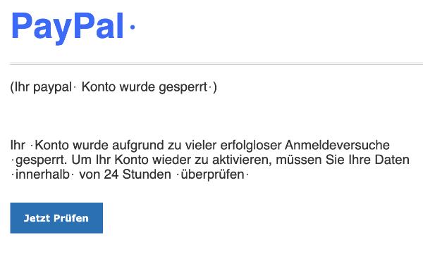2021-06-27 PayPal Spam Fake Phishing-Mail