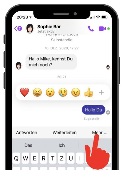 Facebook Messenger Nachricht löschen 2