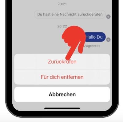 Facebook Messenger Nachricht löschen 4