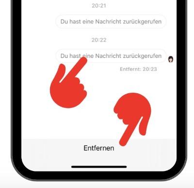 Facebook Messenger Nachricht löschen 5