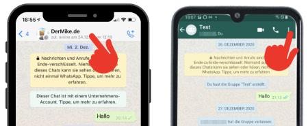 WhatsApp Chat Hintergrund aendern 1