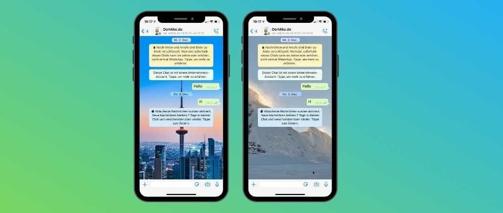 WhatsApp Chat Hintergrund aendern