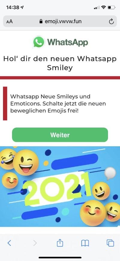 WhatsApp Neue Smileys 1