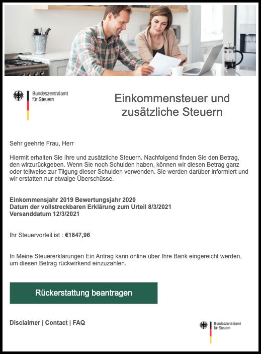 2021-03-11 EMail Bundeszentralamt für Steuern Rueckerstattung