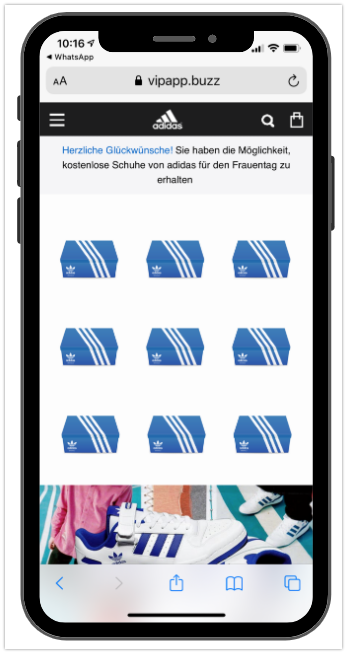 WhatsApp Adidas Kettenbrief 2