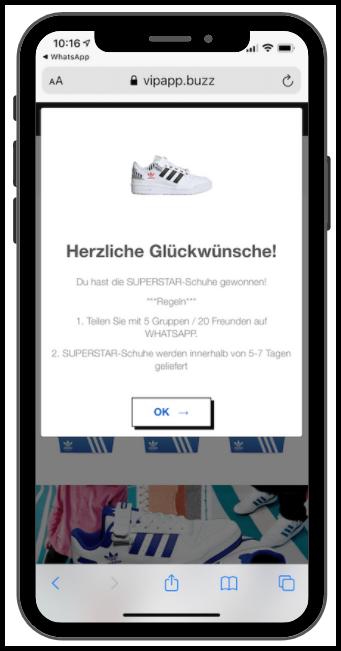 WhatsApp Adidas Kettenbrief 3