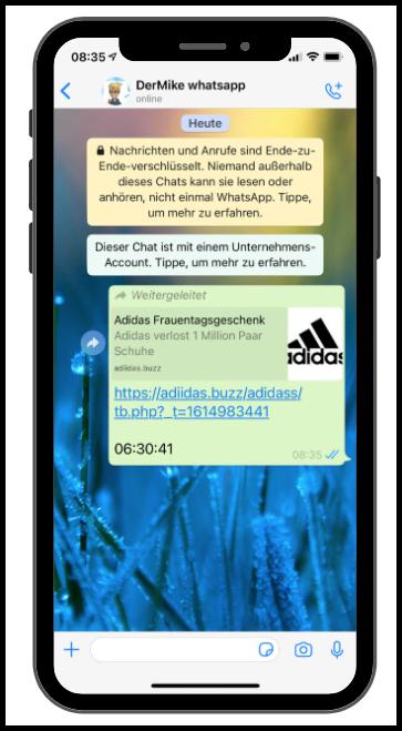 WhatsApp Adidas Kettenbrief