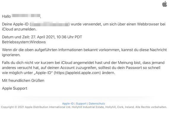 2021-05-08 Apple-ID Hinweis