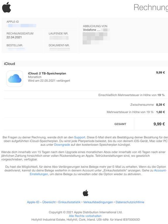 2021-05-08 Apple Rechnung