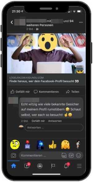 2021-07-21 Facebook Phishing Bild 1