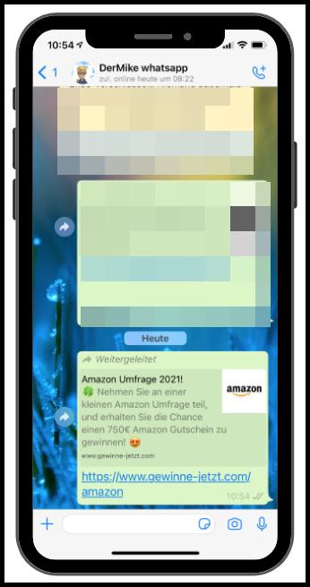 WhatsApp Amazon 750 Euro Gutschein Kettenbrief