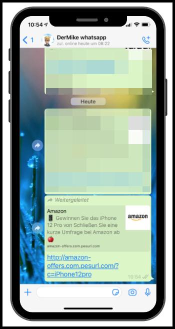 WhatsApp Amazon iPhone 12 Pro Kettenbrief