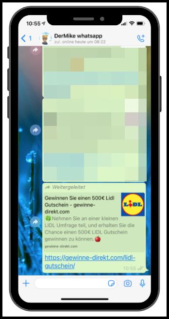 WhatsApp Lidl 500 Euro Gutschein Kettenbrief