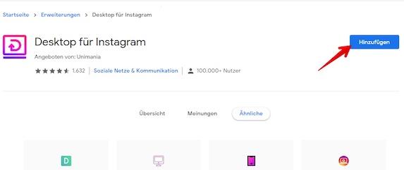 Instagram unter Win 10 Bild 3